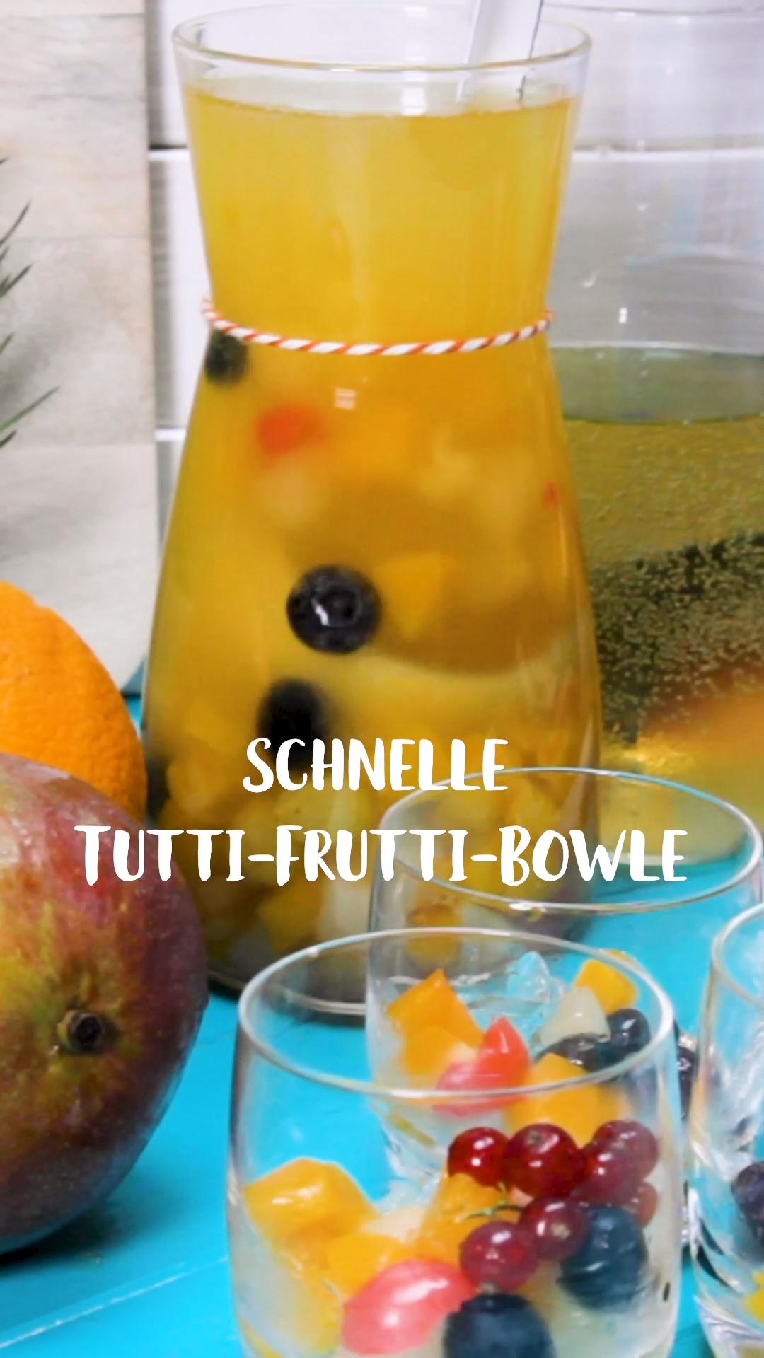 Schnelle Tuttifrutti-Bowle – aus 3 Zutaten #vodkapunch