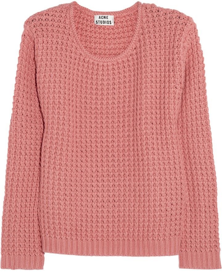 79026310 Acne Studios Sapata chunky-knit cotton sweater on shopstyle.com Cotton  Jumper, Pink