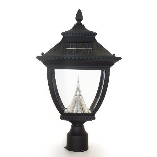 Pagoda Solar Post Lantern Head With 3 Quot Fitter In Black By