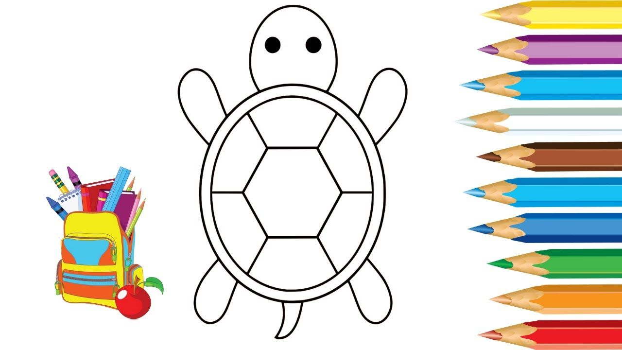 How To Draw A Tortoise Drawing Videos For Kids Drawing Videos For Kids Tortoise Drawing Drawing Videos