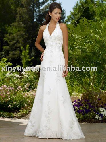 2017 Boutique Halter Strap Outdoor Summer Wedding Dresses Rdw 021