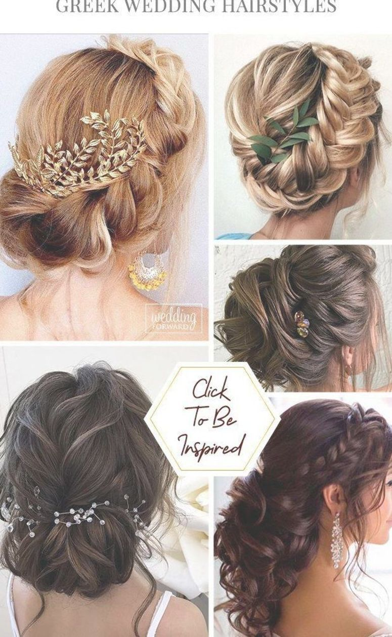 39 Greek Wedding Hairstyles For The Divine Brides Greek Wedding Hairstyles Are Ideal For Warm Weather Greek Goddess Hairstyles Wedding Hairstyles Greek Hair