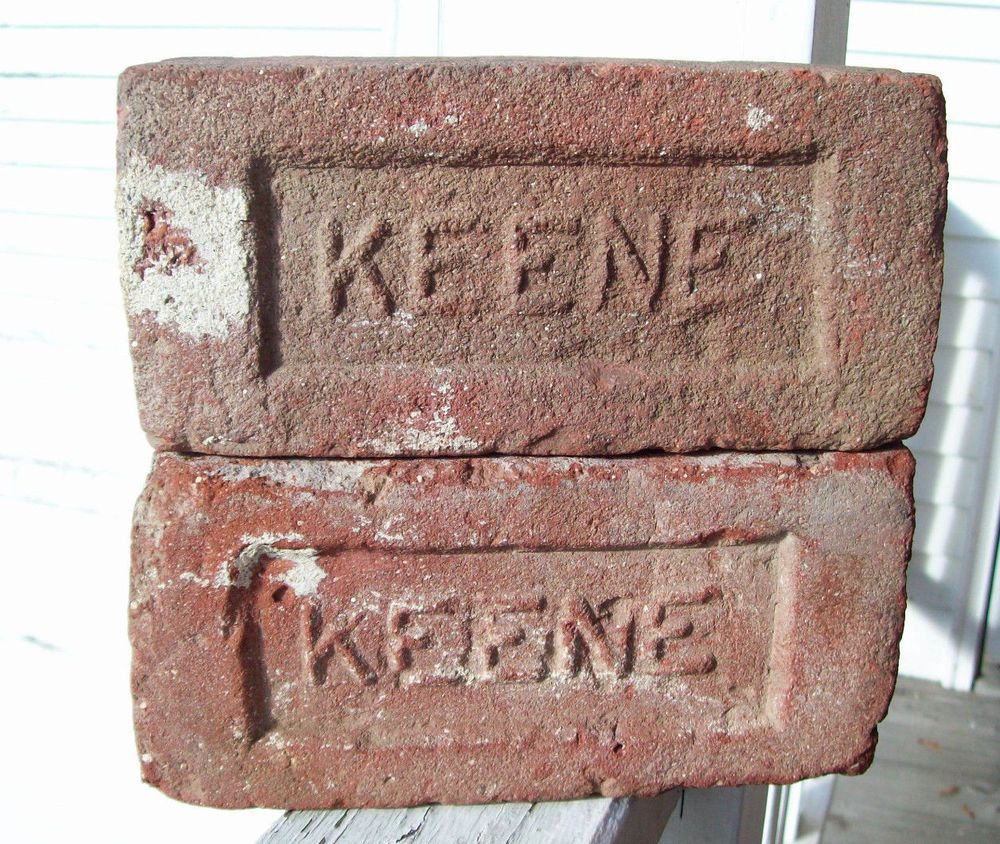Set Of 2 Keene Red Clay Bricks Keene Nh Brick Co 1909 1920