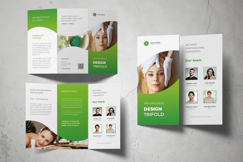 Spa Massage Trifold Brochure by on Tờ rơi