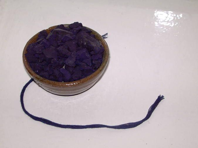 Indigo was also used to naturally create deep blues.