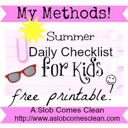 A Summer Version Of My Kids Daily Checklist  Daily Checklist