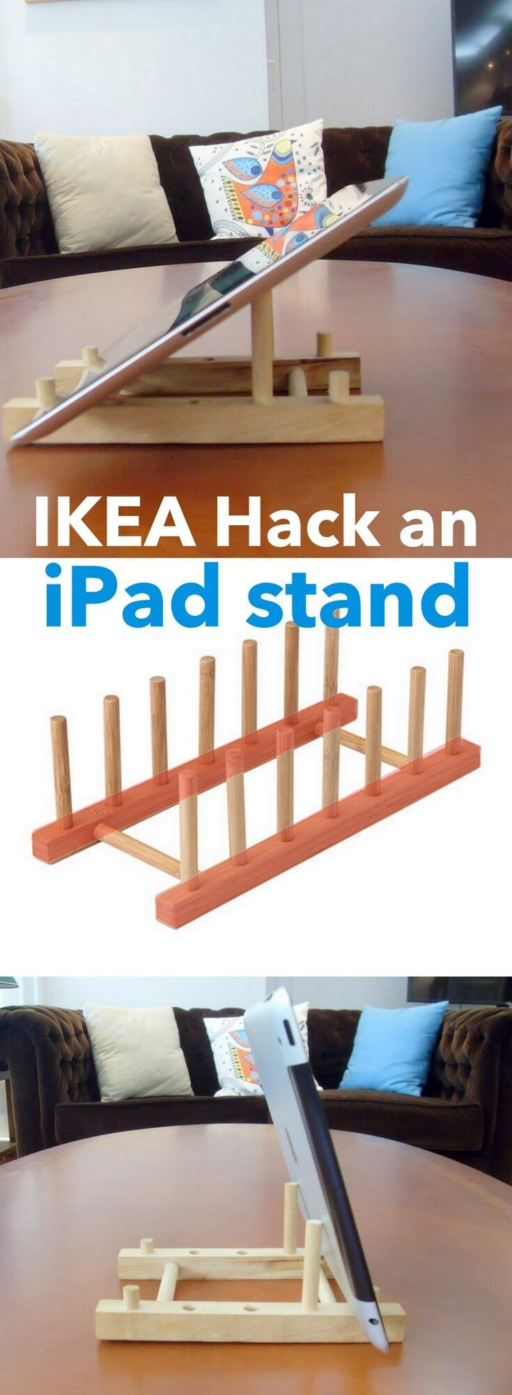 Bordenhouder Ikea Turn A Cheap Wooden Plate Holder To An Ipad Stand Ikea Idee