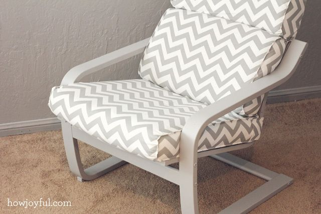 Ikea hack: Poang chair recover with paint and a custom cover