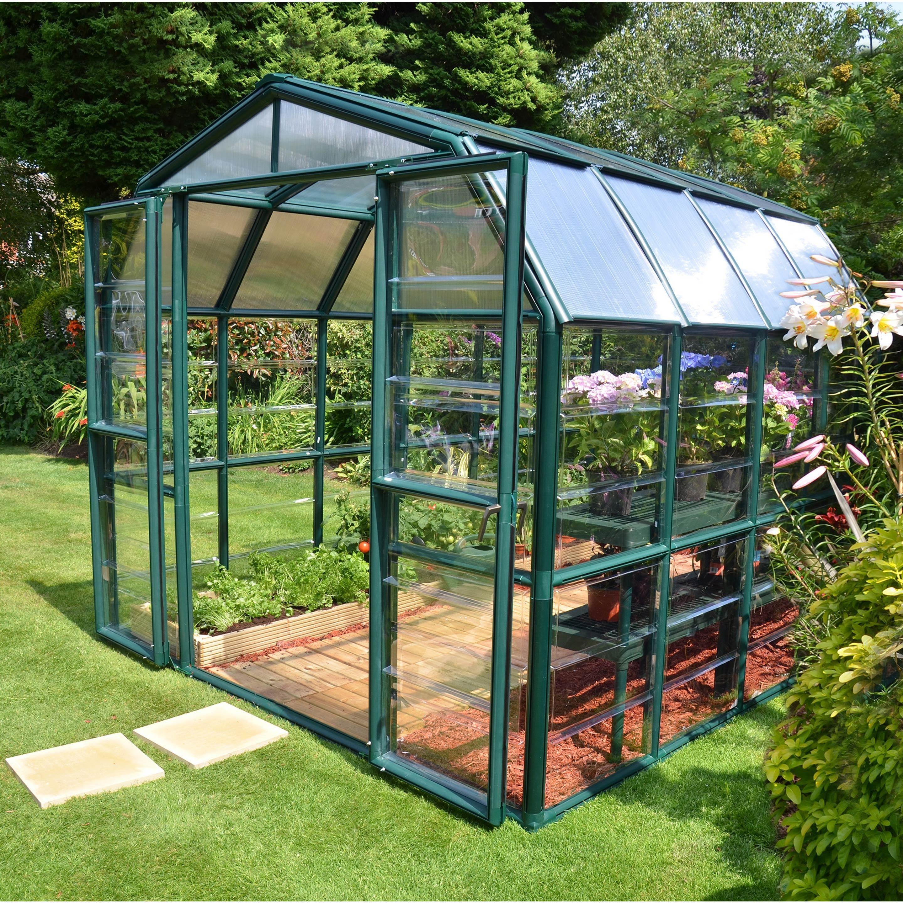 Serre de jardin GRAND GARDENER 6.8 m², aluminium et ...