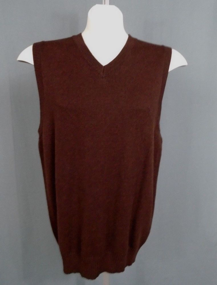 Old Navy Size M Chocolate Brown 8% Cashmere Sweater Vest NWT ...