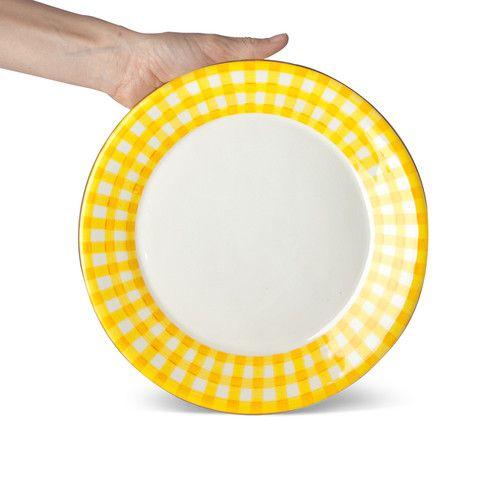 Dinner Plate Gingham Yellow
