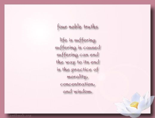 the four noble truths of buddhism summary