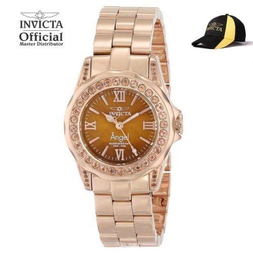 Invicta Angel Lady Swiss Quartz Gold Ip 31mm Watch 15051 W Official Hat Invicta Watches Women Invicta Angel Invicta