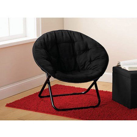 Mainstays Microsuede Saucer Chair Multiple Colors Black Chair