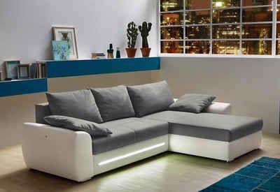Polsterecke Mit Bettfunktion Recamiere Links Oder Rechts Montierbar Couch Sofa Ecksofa