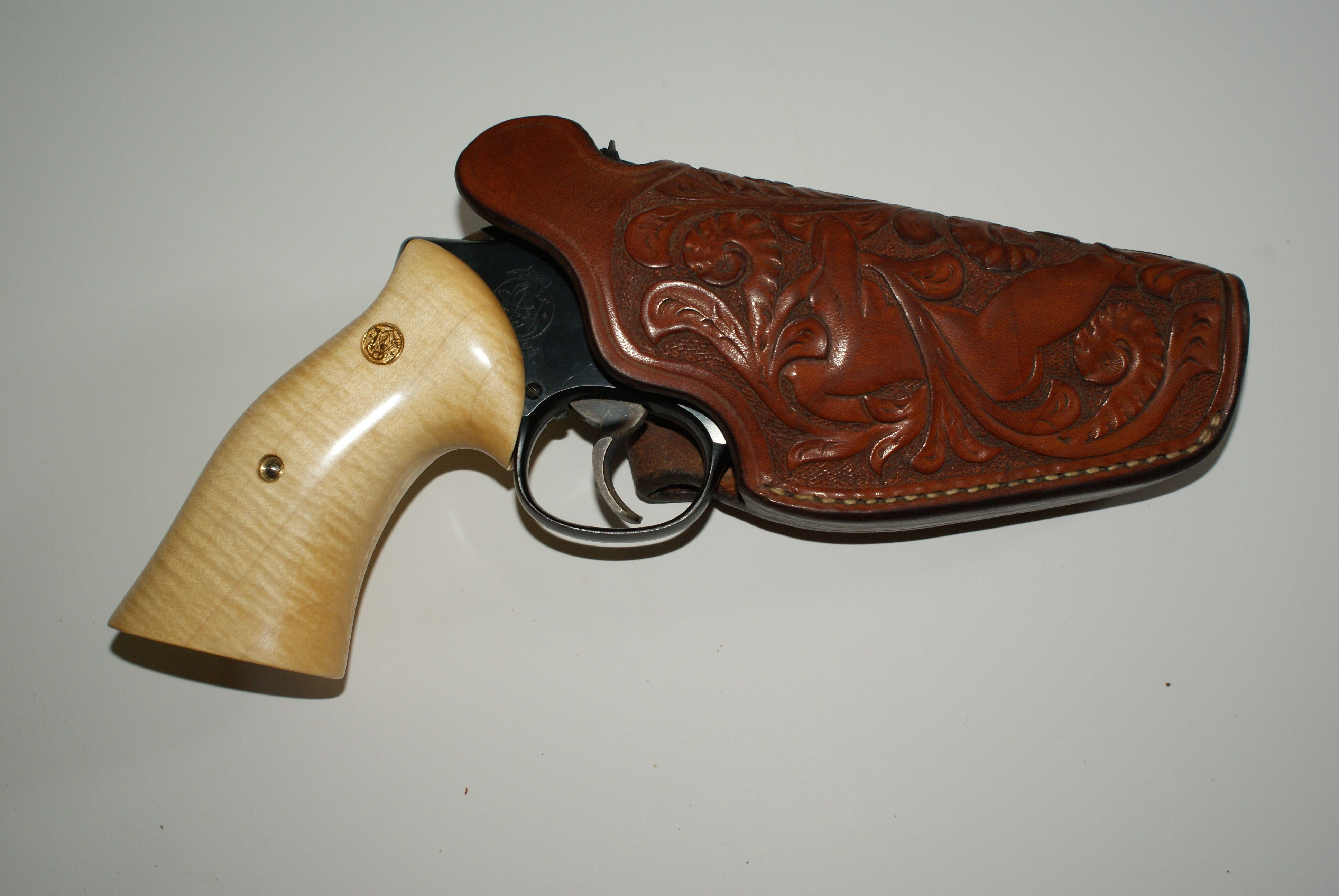 Holster unmarked, Nude Girl shown with S&W K frame Mod.18 4 ...