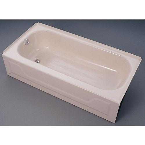 Ventura® 40 Gal White Right Hand Enameled Steel Bathtub (011 2364D00)   Ace  Hardware