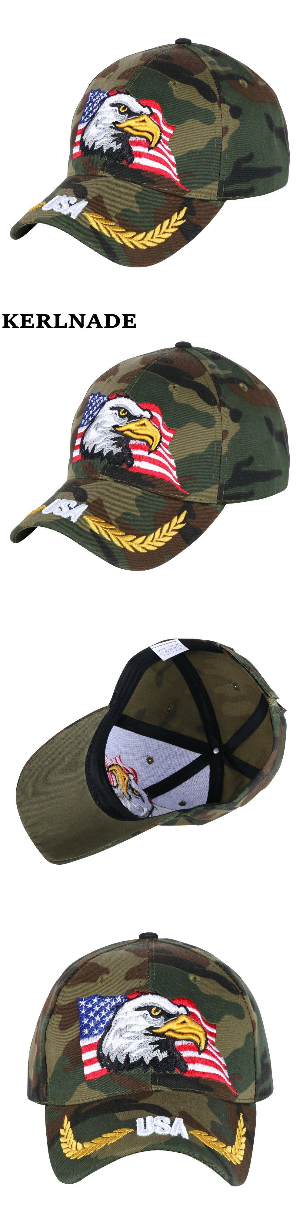 858fee88 men boy brand baseball cap customized design eagle character embroidery  camouflage style novelty snapback hats women