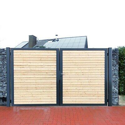 Premium Einfahrtstor Garten Tor Anthrazit Holz Symmetrisch 2 Flugeltor 500x180cm Ebay In 2020 Einfahrtstor Einfahrt Einfahrt Tor