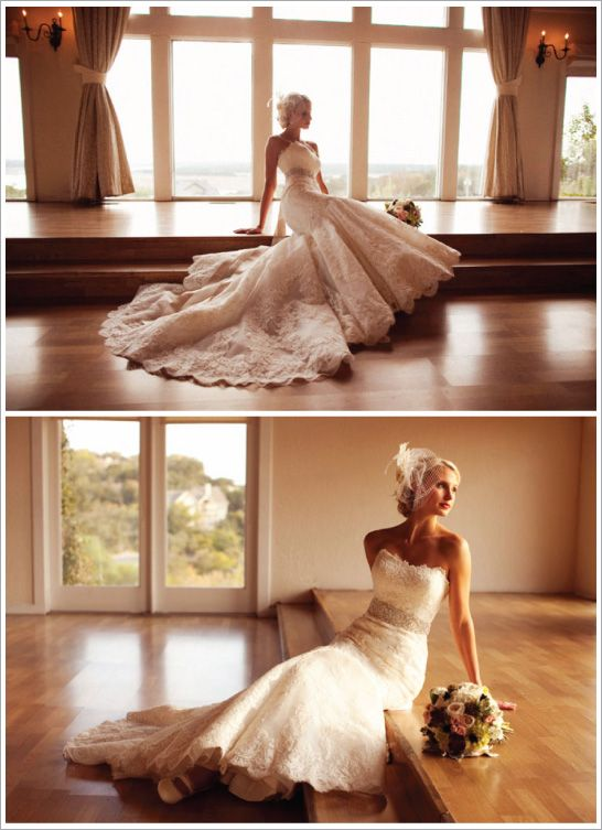 Photography: EE Photography  Designer: Enzoani, Dakota  Bridal Salon: Blush Bridal Lounge in Austin, Texas  Belt: Purchased at Blush Bridal also Veil: Hand-stitched by the Brides Mother