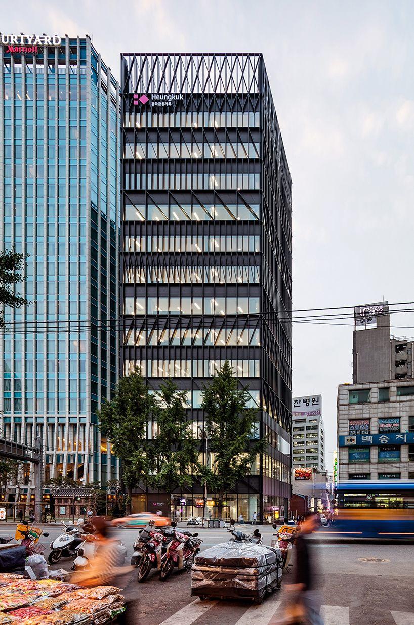 Mecanoo Completes 14 Floor Namdeamun Office Building In Seoul Office Building Building Office Building Architecture
