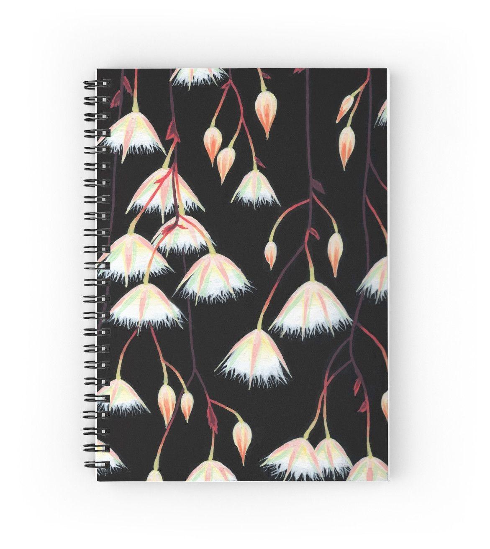 """Elaeocarpus, acrylic art"" Spiral Notebooks by ptitsa-tsatsa | Redbubble"
