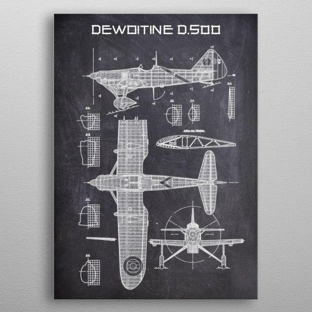 DEWOITINE D500 by FARKI15 DESIGN | metal posters - Displate | Displate thumbnail