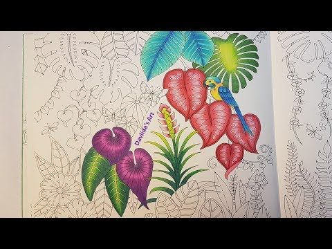 How To : Color Amazing Leaves | Secret Garden Coloring Book ...