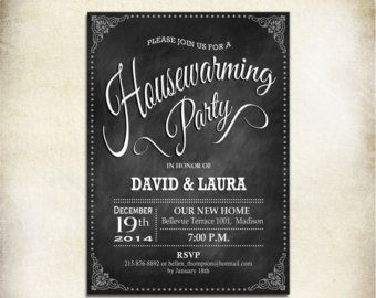 Rustic Housewarming Invitation / Printable by TheStarDustFactory