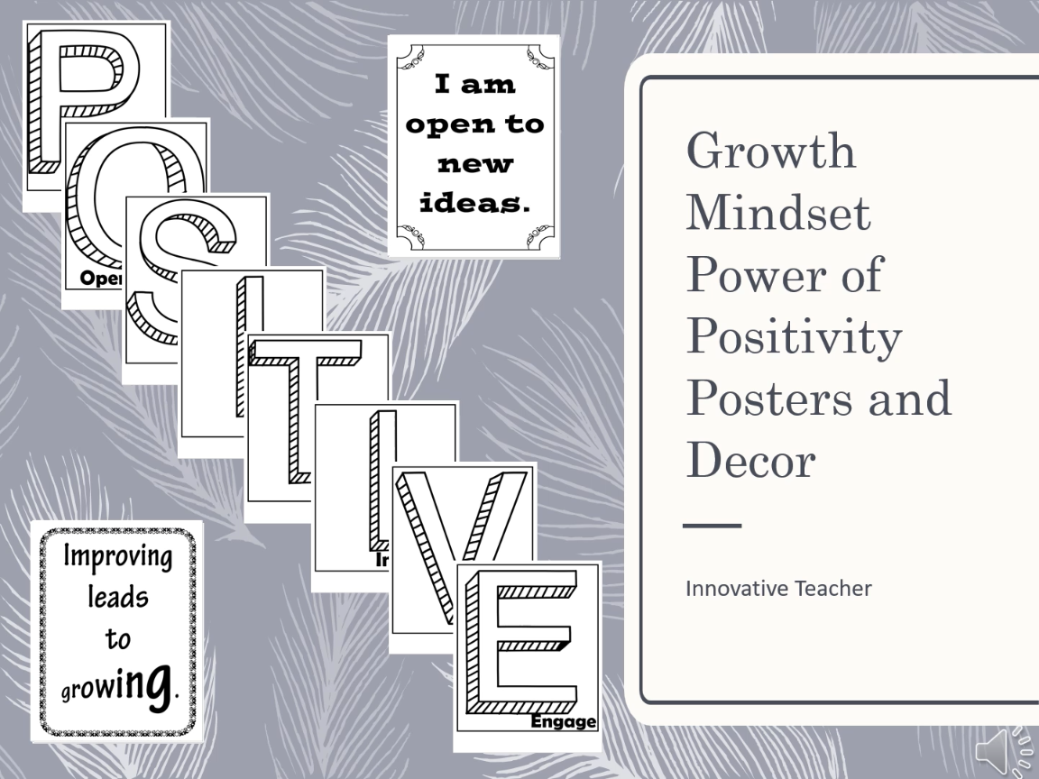 Growth Mindset Power Of Positivity Posters And Decor