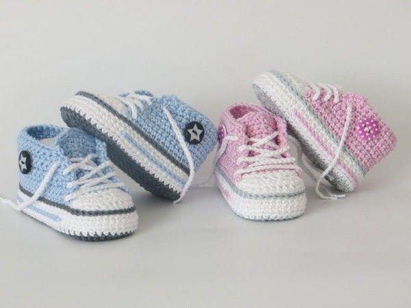 Häkelanleitung für trendige Babyschuhe | Babyschuhe häkeln