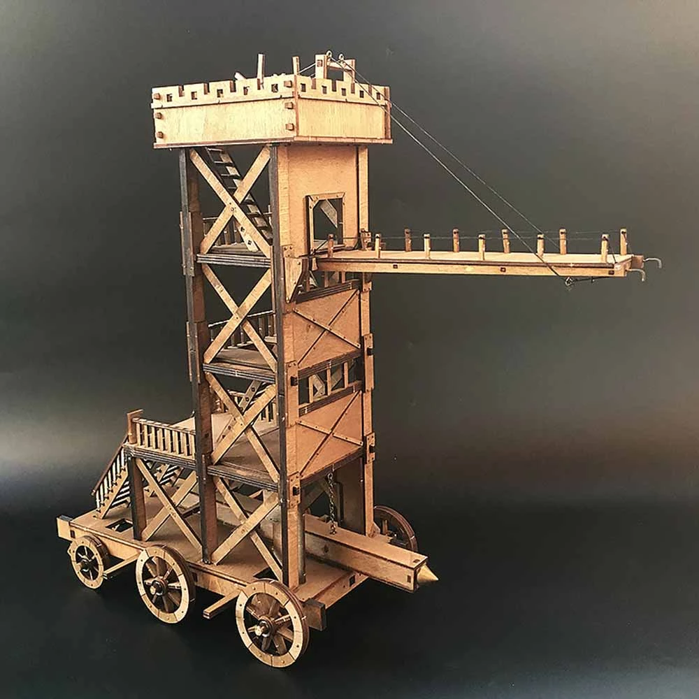 AM005 Siege Tower Military Model 3d Wooden Puzzle Model Kits
