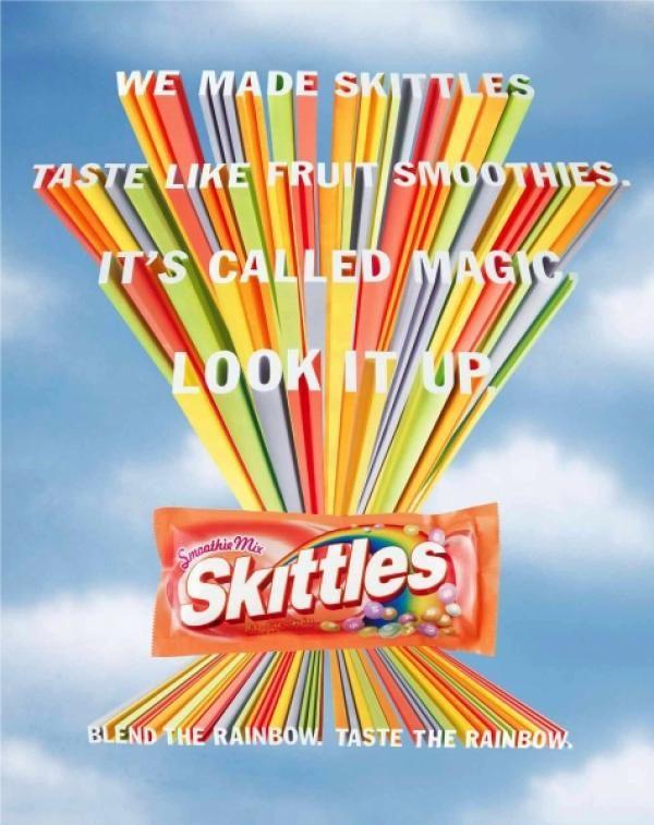 Skittles - Taste the Rainbow | Media Messages - Grade 4 ...