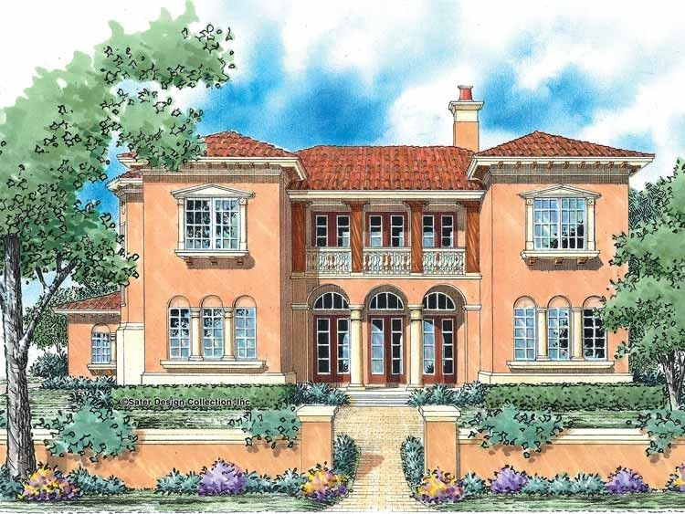 Italianate House Plan With 3578 Square Feet And 5 Bedrooms S From Dream Home Source House Plan Code Mediterranean Style House Plans House Plans Castle Plans