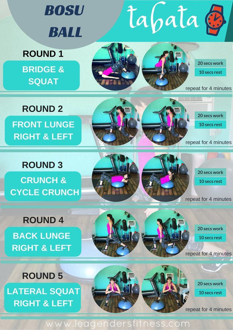 TRY THIS BOSU BALL LOWER BODY TABATA WORKOUT — Lea Genders Fitness
