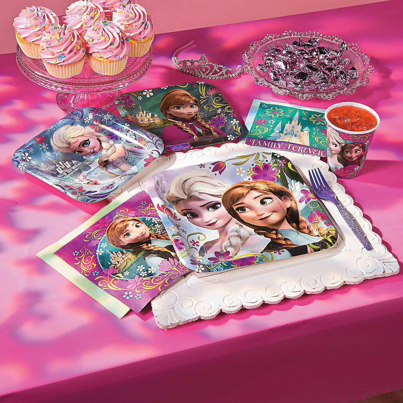 Frozen birthday party decorations ideas  Disneyus Frozen Dessert Plates  OrientalTrading  Frozen Party