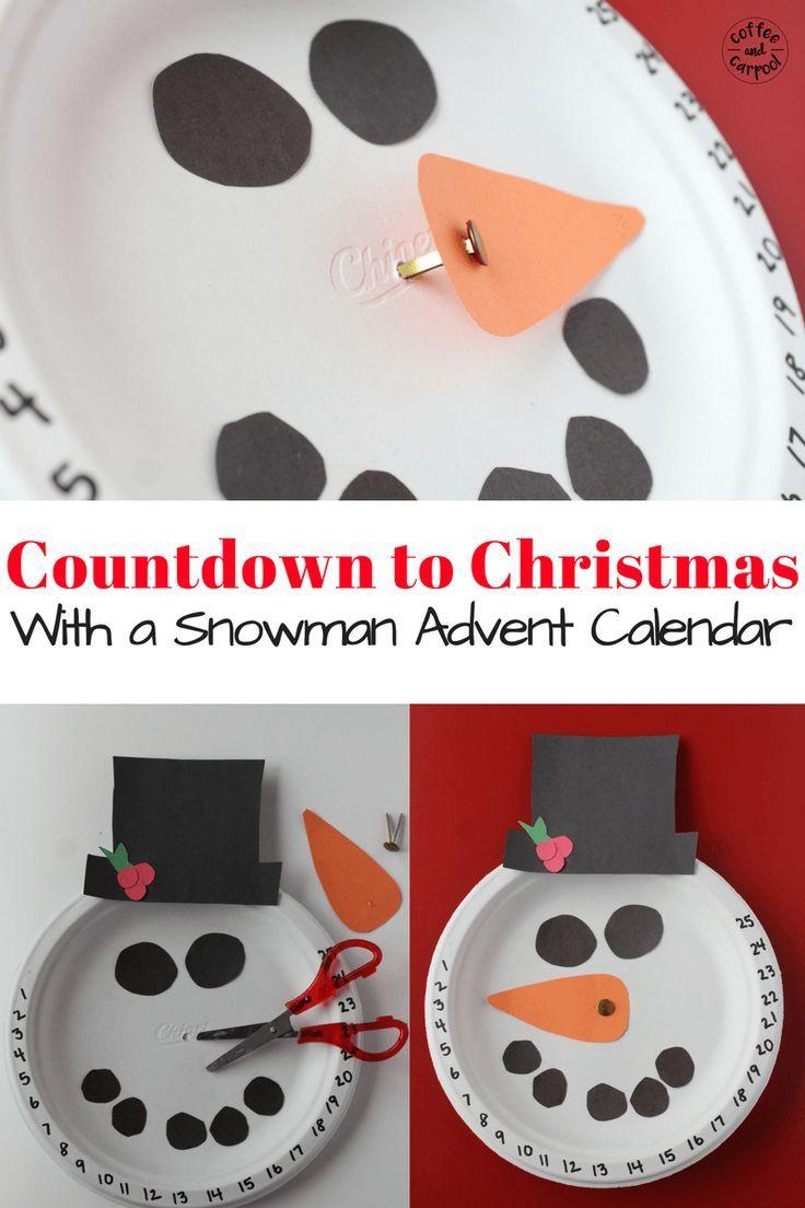 Countdown To Christmas Craft Ideas Part - 17: Countdown To Christmas With This Christmas Craft Snowman Advent Calendar.  Www.coffeeandcarpool.com