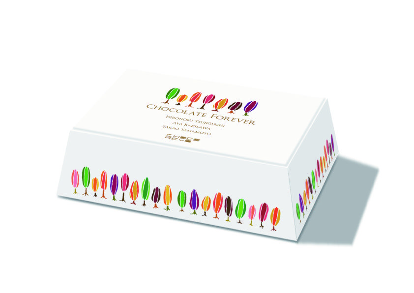 "Choco-Revo ""Chocolate Forever 2013"" box.  Special thanks  :  Natsue Yamanaka (designer) Dentsu AD-GEAR"