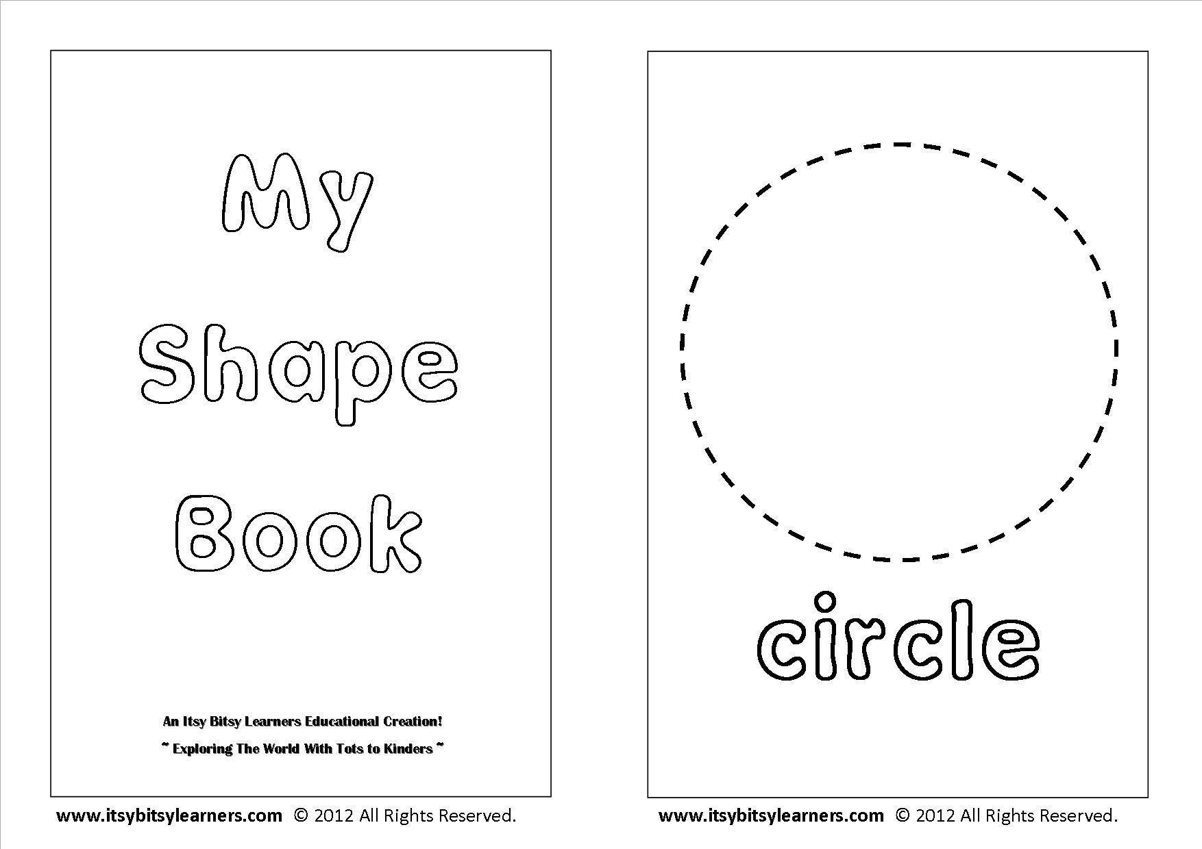 Kindergarten Coloring Pages Shapes Copy Shape Coloring