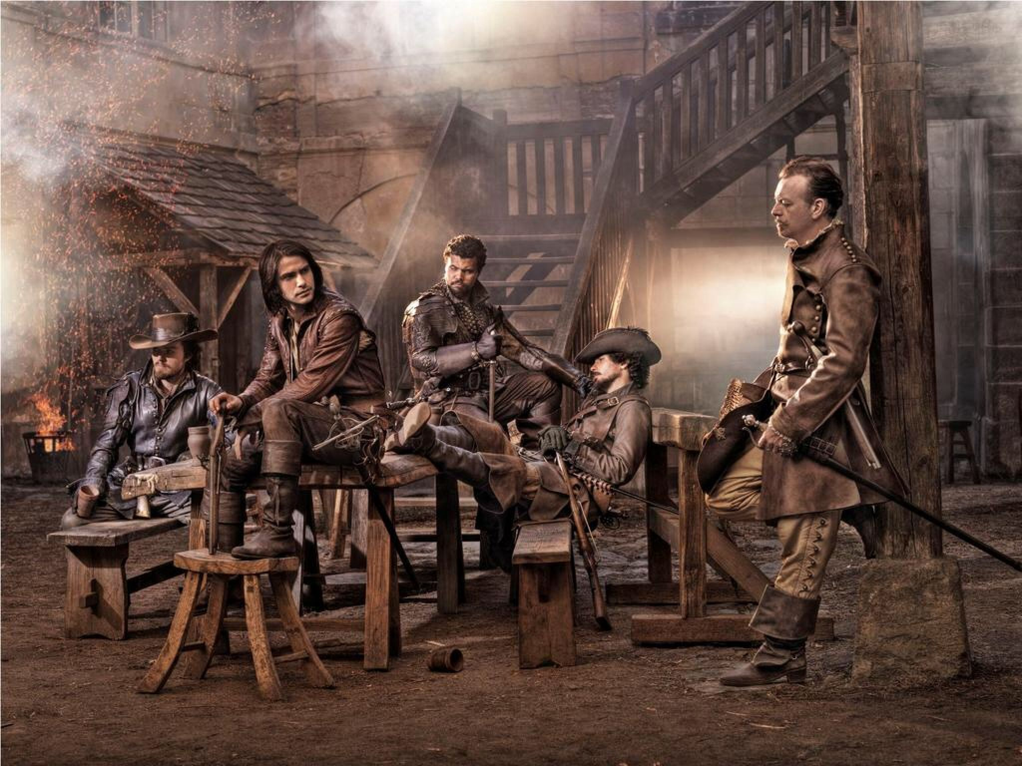 The Musketeers & Capt. Treville