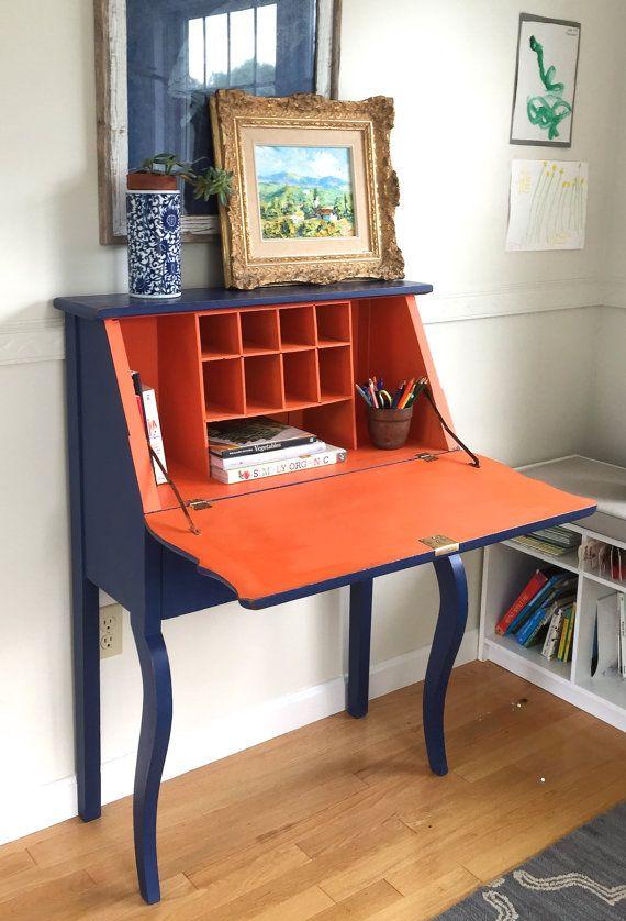 Vintage Victorian Oak Secretary Flip Top Desk by HausofVintage11 - Vintage Victorian Oak Secretary Flip Top Desk By HausofVintage11