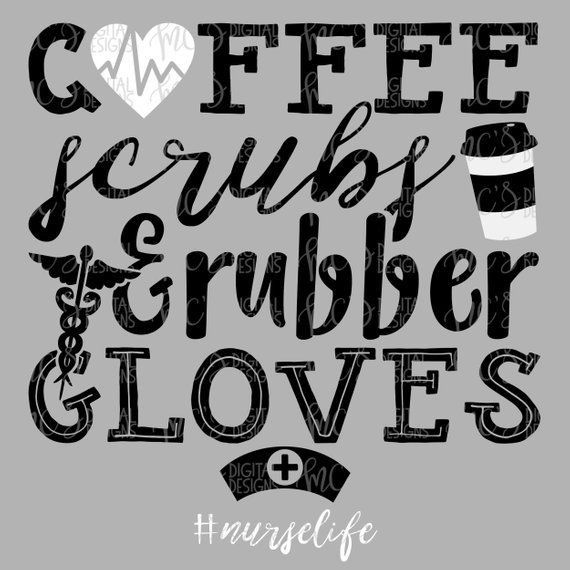 Digital Download Coffee Scrubs And Rubber Gloves Svg
