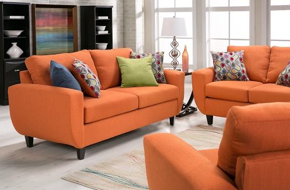 Malta Collection Orange Sofa from Slumberland Furniture
