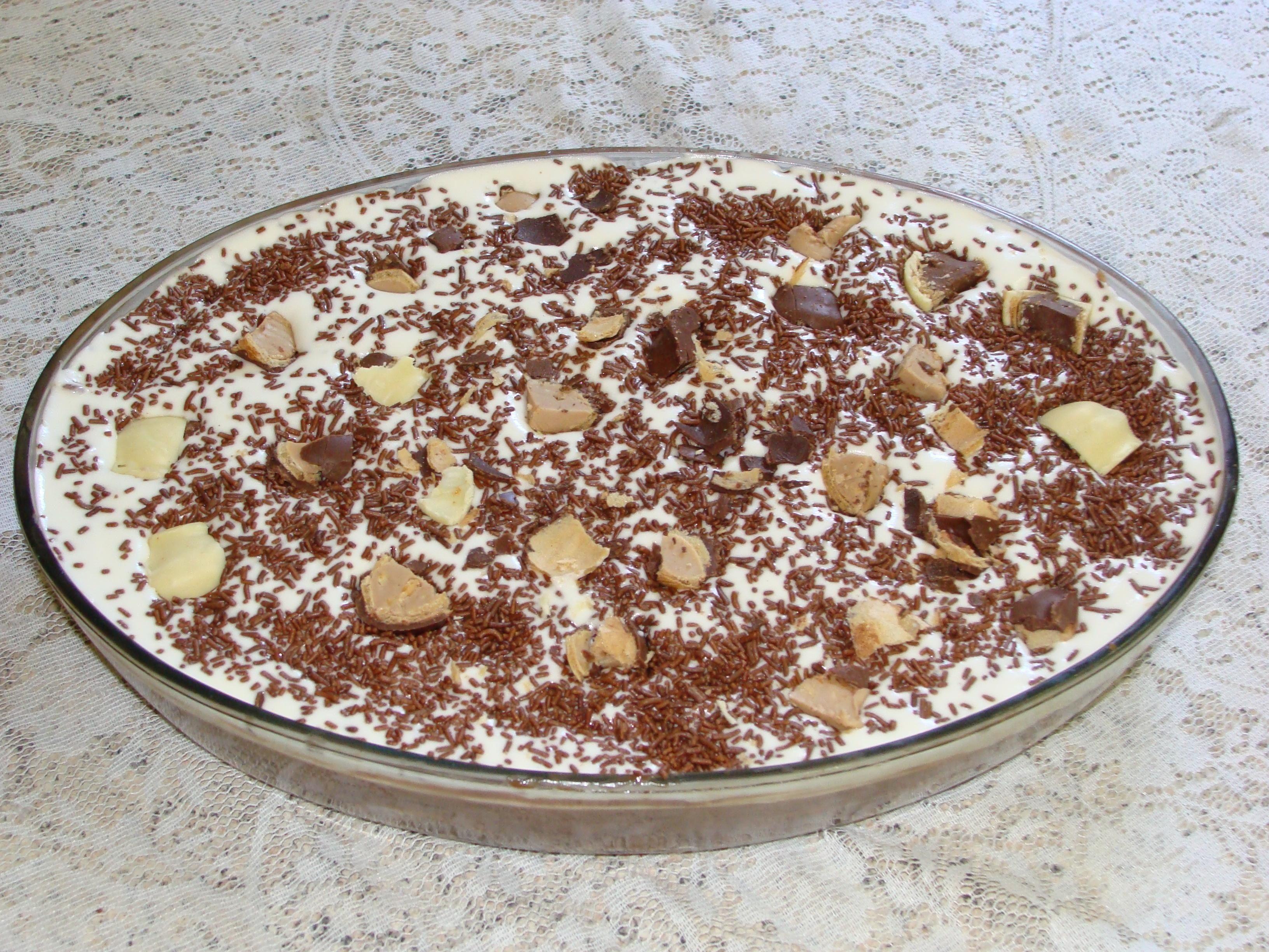 Receita de Torta de bolacha maria. Enviada por Sabrina Sperb e demora apenas 45 minutos.