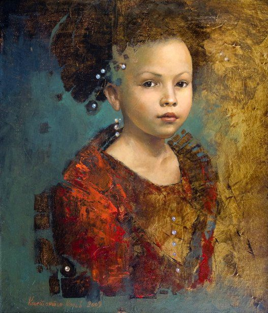 Konstatin Kacev, Portrait Of A Girl.