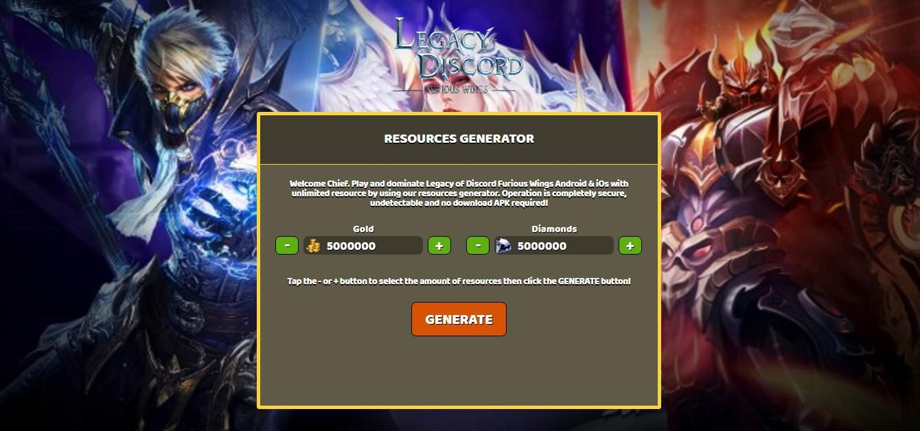 Legacy of Discord Furious Wings Hack Gold & Diamonds - Unlimited ...