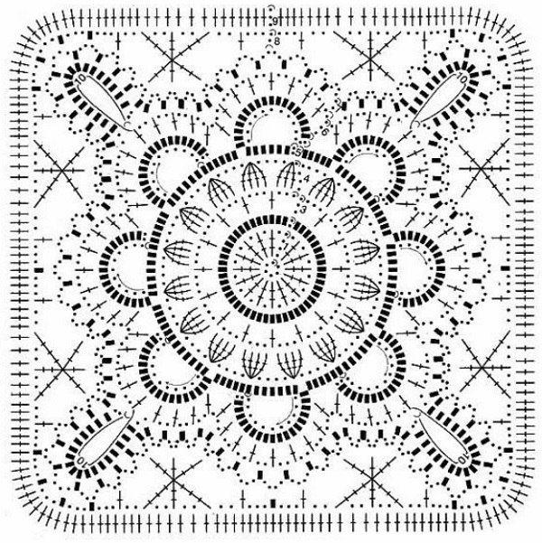 Crochet cuadrado de la abuela | crochet granny | Pinterest ...
