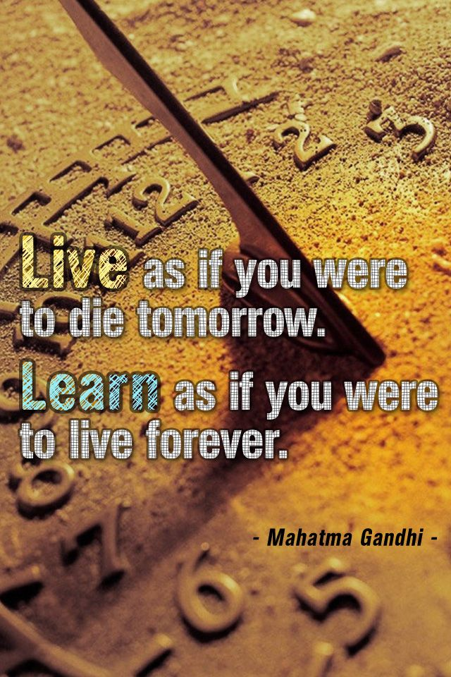 Inspirational Live And Learn By Mahatma Gandhi | IPhone Wallpapers HD