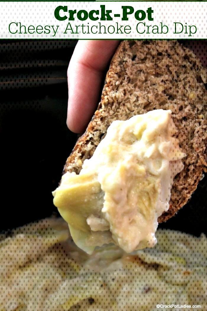 Crock-Pot Cheesy Artichoke Crab Dip Recipe Crock-Pot Cheesy Artichoke Crab Dip - Impress your party