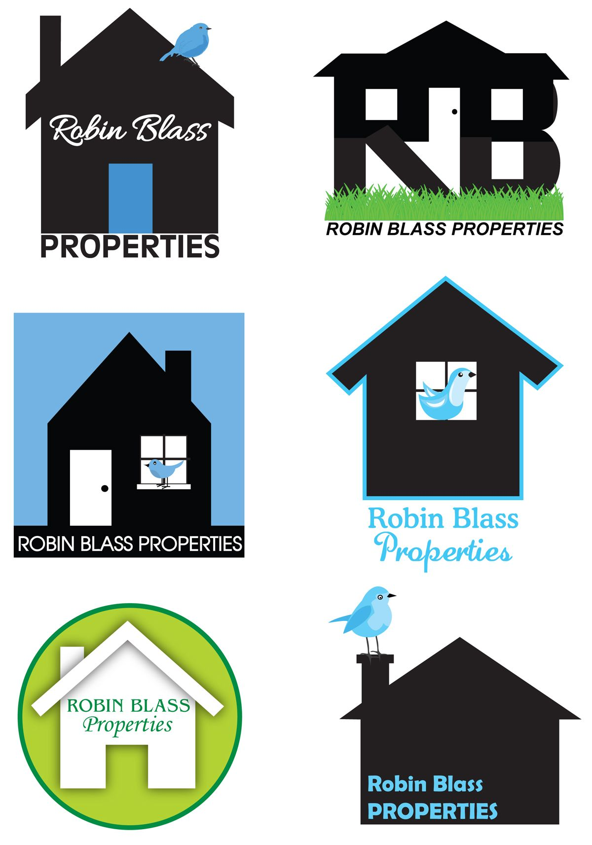 Logos created for local real estate agent. Which one do